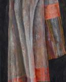 Großes Tuch, 2005 Öl auf Jute, 145 x 50 cm