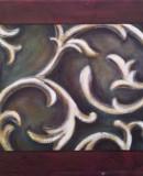 Ornament I , 2010 Öl auf Dekostoff, 50 x 40 cm