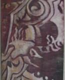 Violetter Samt, 2009 Öl auf Jute, 70 x 40 cm