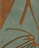 Faltenwurf II, 2007, 140 x 51 cm