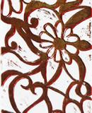 Großes Blütenornament I, 2011 110 x 28 cm